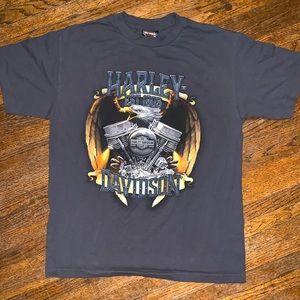 Harley-Davidson Eagle & Engine Shirt Size M Gray